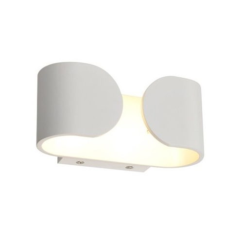 Aplique superficie led 2x3W ESKRISS curvo blanco