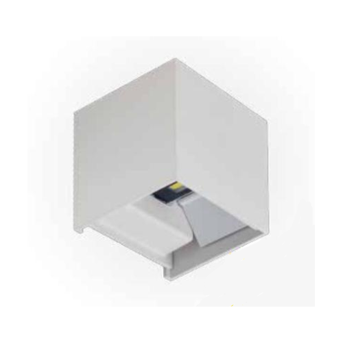 Aplique superficie led 2x3W ESKRISS cuadrado blanco